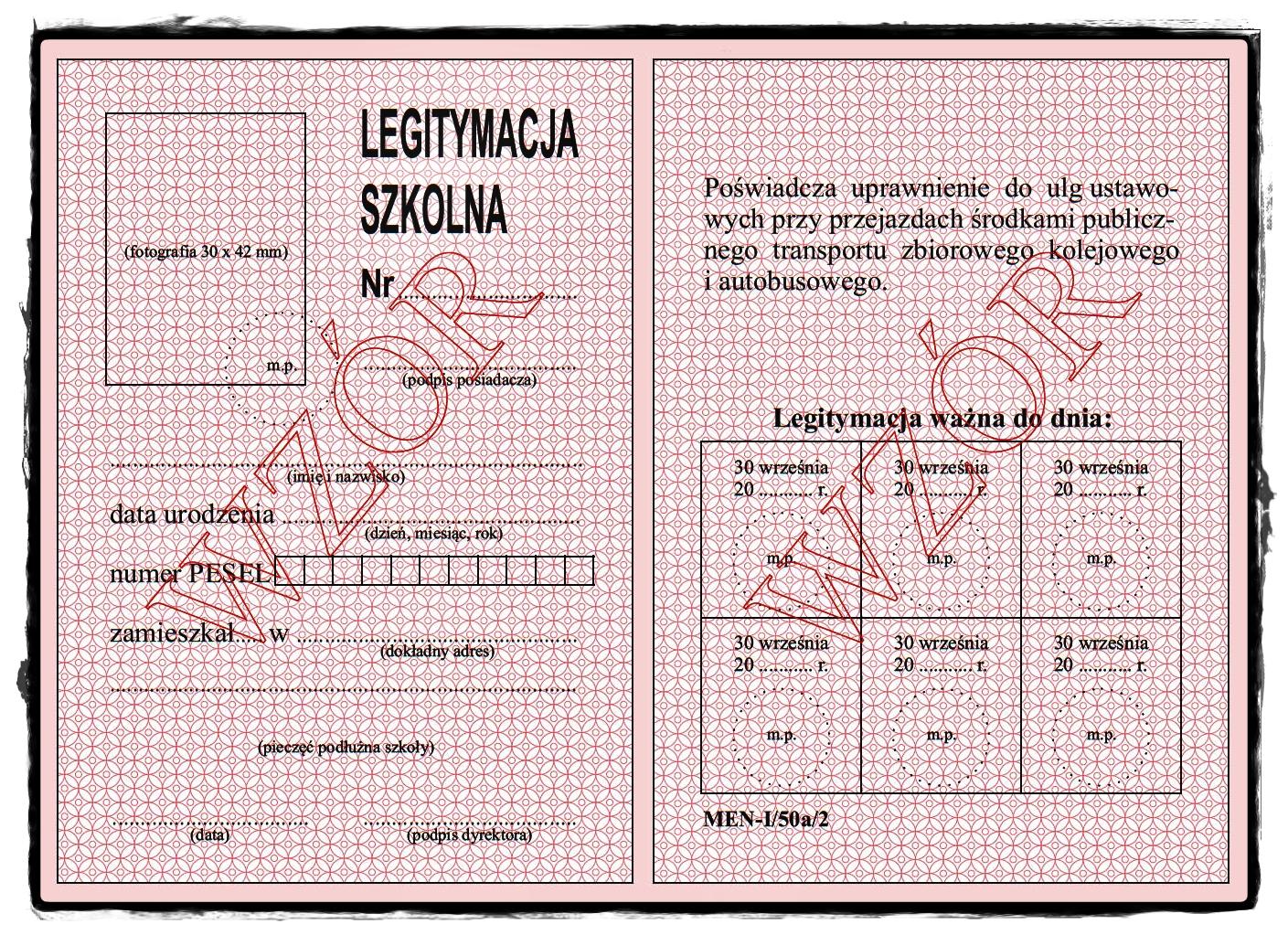 Zasady wydawania legitymacji szkolnych